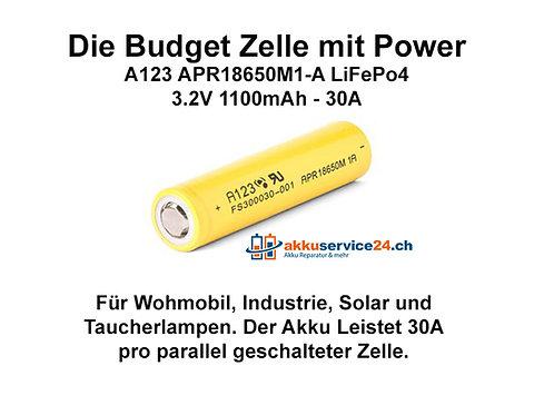 A123 APR18650M1-A LiFePo4 - Preis pro verbaute Zelle im Akkupack