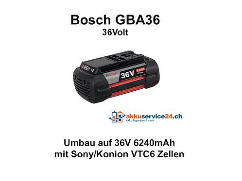 Werkzeug Akku Bosch GBA 36V - Umbau