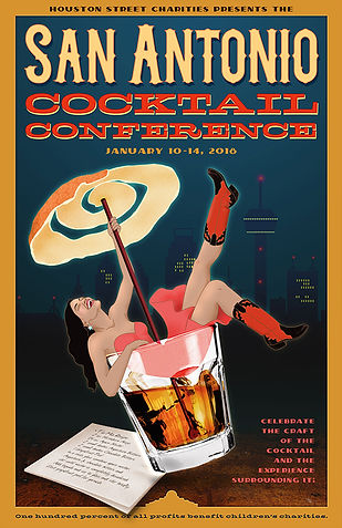 San Antonio Cocktail Conference poster 2018