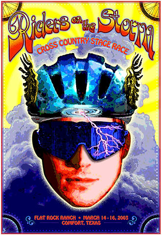 Riders of the Storm bike race poster