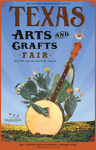 Texas Arts and Crafts Fair poster 2018
