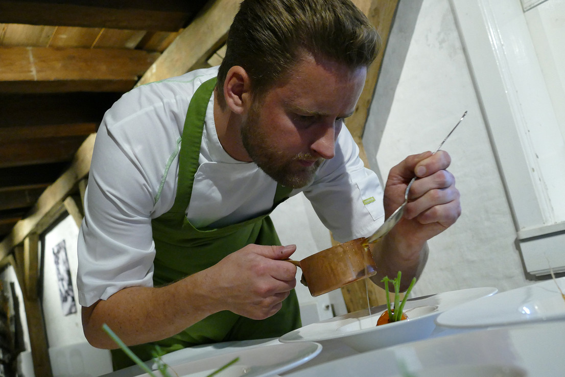 Head chef and owner Kenneth Ellegaard -