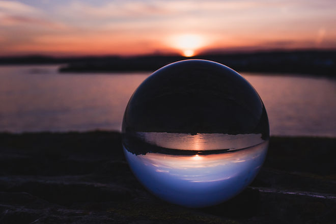 Crystal Ball During Dawn-Future Resoluti