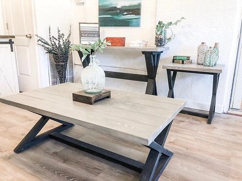 Gray/Black Rectangular Coffee Table