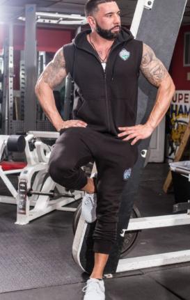 Men's Black Hoodie Vest