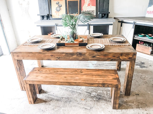 6ft Clean Lines Farm Table w/Bench