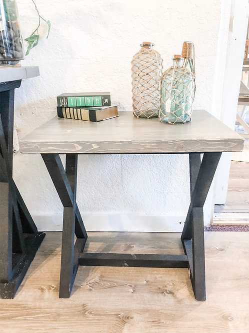 Gray/Black Side Table