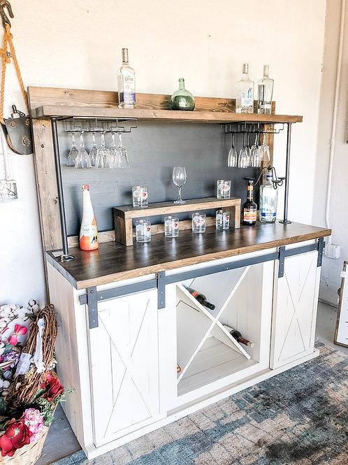 Custom 2-Door Industrial Wine Bar