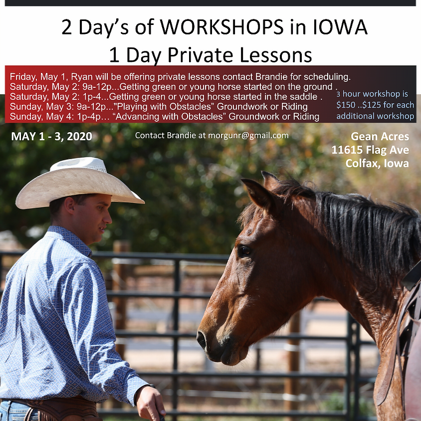 Iowa Workshops and Lessons (8/7-8/9)