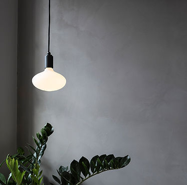 Oval-Porcelain-led-bulb-graphite-pendant