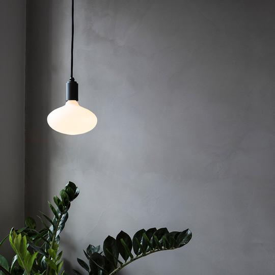 Oval-Porcelain-led-bulb-graphite-pendant