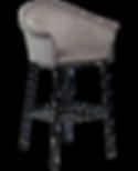 kite-bar-stool-alu-velvet-with-black-met