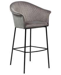 kite-bar-stool-alu-velvet-with-black-met