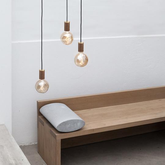 Voronoi-1-Walnut-Pendant-decorative-led-