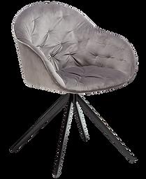 cray-chair-alu-velvet-with-black-metal-l