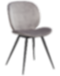cloud-chair-alu-velvet-with-black-conica