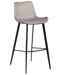 hype-bar-stool-alu-velvet-with-black-met