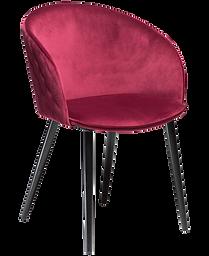 dual-chair-deep-ruby-velvet-with-black-c