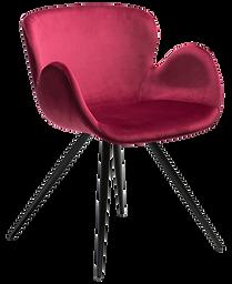 gaia-chair-deep-ruby-velvet-with-black-c