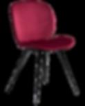 cloud-chair-deep-ruby-velvet-with-black-