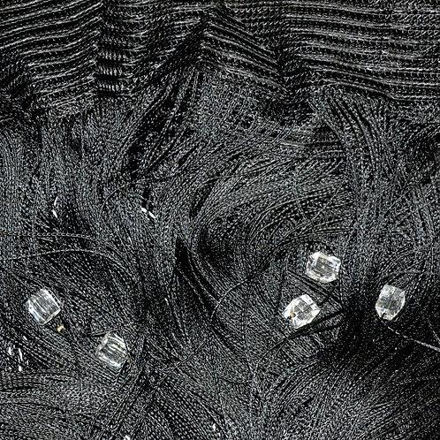 Кисея с кристаллическими кубиками