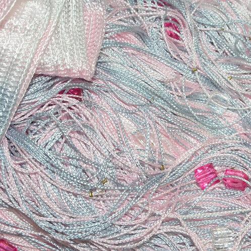 Кисея мультиколор с кубиками, нитяной занавес разноцветный с кристалликами, шторы нити, готовые занавески, веревочные шторы.