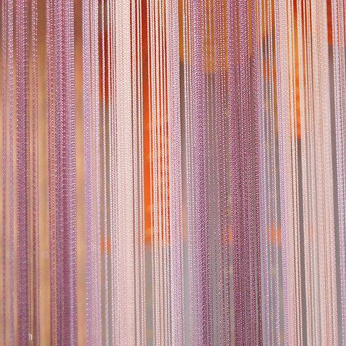 Кисея мультиколор, нитяной занавес разноцветный, шторы нити, готовые занавески, веревочные шторы.