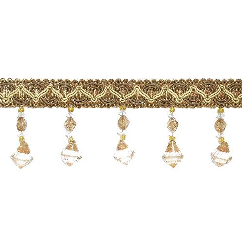 Тесьма сутажная со стеклярусом, тесьма для штор, тесьма плетеная с кристалликами, шторная фурнитура, тесьма отделочная.