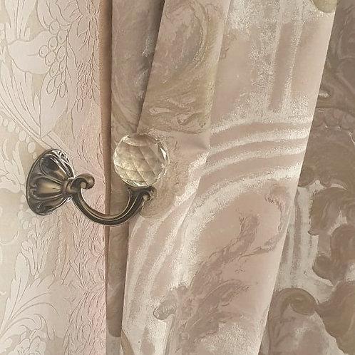 Крючки для штор металлические, крючок настенный, аксессуары для штор, крючок для подхватов, крючки со стразами.