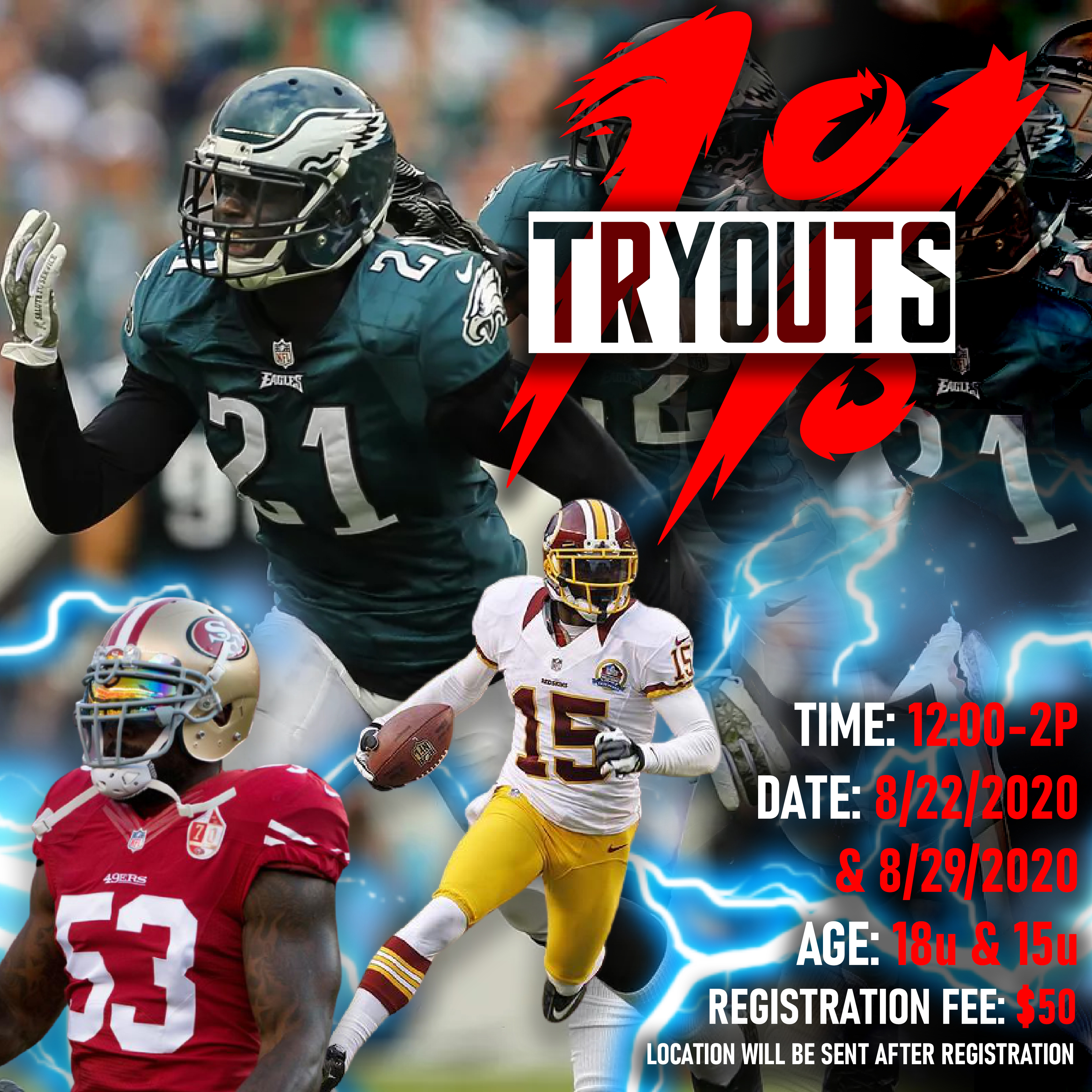 1 per tryout 2222