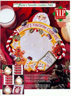 Santa ceramic cookie plate
