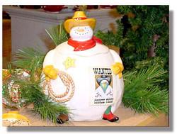 Snow buddies ceramic cookie jar