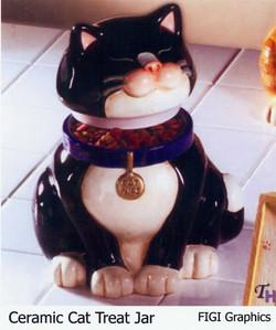 Cat treat jar
