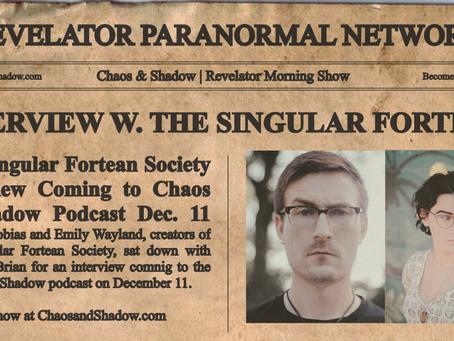 INTERVIEW: THE SINGULAR FORTEAN SOCIETY | Tobias & Emily Wayland