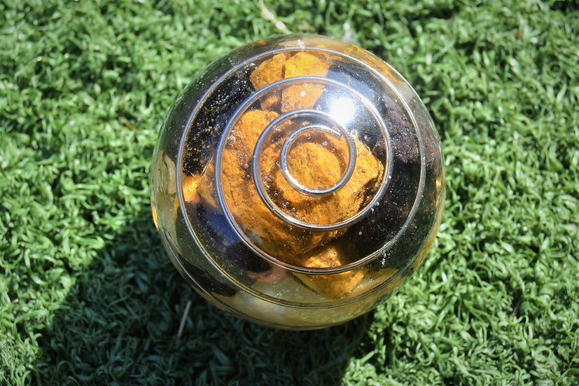 Large Orgonite Sphere Tennis Ball Size
