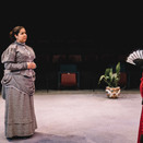 Olivia Woodward as Miss Prism and Joan Milburn as Lady Bracknell.