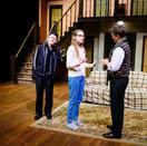 Ed Hillis as Selsdon, Joan Milburn as Poppy Norton-Taylor, and Scott Galbreath as Lloyd.