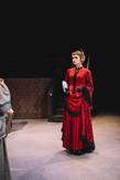 "Joan Milburn as Lady Bracknell in ""The Importance of Being Earnest,"" Southwestern University 2015"