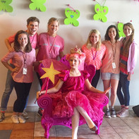 Education Assistants on the opening night of Pinkalicious.