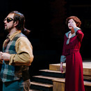 Chris Szeto-Joe as Husz and Joan Milburn as Paulinka in the final scene of Act I.