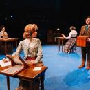 Ale Salinas as Annie Cannon, Christian Erben as Williamina Fleming, Chris Szeto-Joe as Peter, and Joan Milburn as Henrietta Leavitt in Act I of Silent Sky.