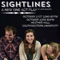 Poster for Joan Milburn's production of Sightlines, Fall 2016.