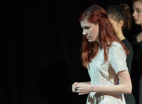 Production photo from Blue, fall 2014