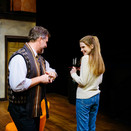 Lloyd and Poppy in the opening scene of Noises Off.