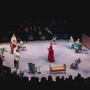 The Importance of Being Earnest being performed in the round.