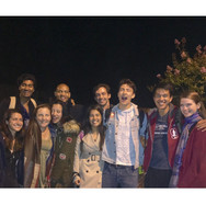 Joan Milburn and some of her classmates after attending a performance at Marin Shakespeare.