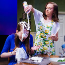Joan Milburn as Jennifer, Tristin Evans as Susan, and Bonnie Lambert as Brenda during the whipped cream fight in Act II of Gabriel.