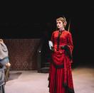 Joan Milburn as Lady Bracknell.