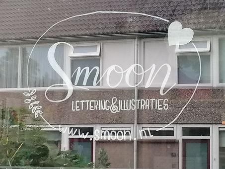 Het logo van Smoon als raamtekening