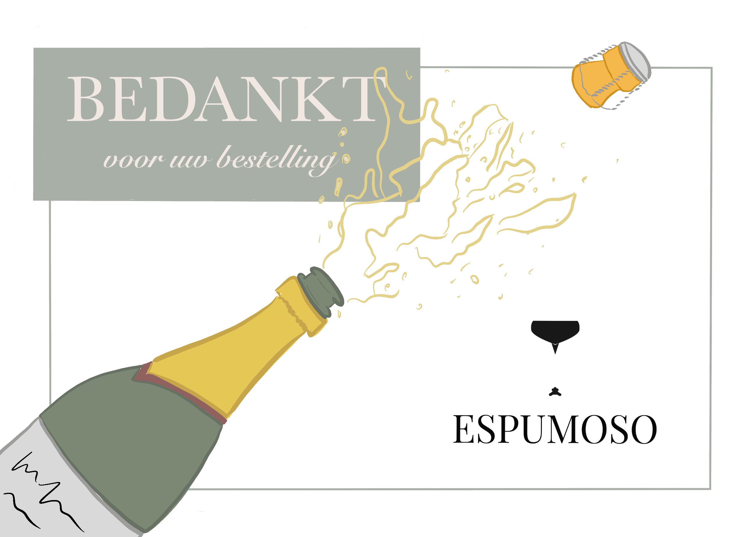 Bedankkaartje Espumoso